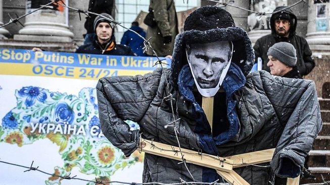 Protiputinský protest v Kyjevě