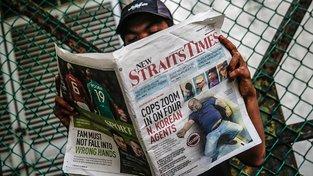 Malajsijské noviny se zavražděným bratrem Kim Čong-una na titulce