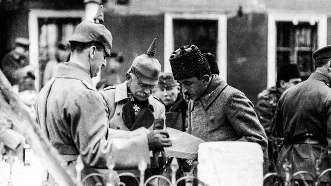 Arnold von Winckler a Enver Paša na makedonské frontě
