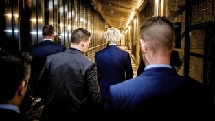 Geert Wilders se svým týmem
