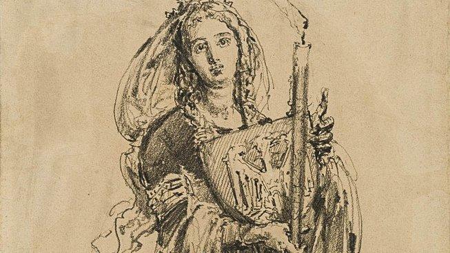 Dobravka Česká. Kresba polského malíře Jana Matejka