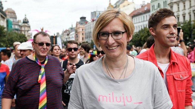 Přiznání Šlechtové jednoduše nikoho příliš nepřekvapilo. Na snímku jako účastnice loňského Prague Pride