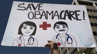 Demonstrace na podporu Obamacare