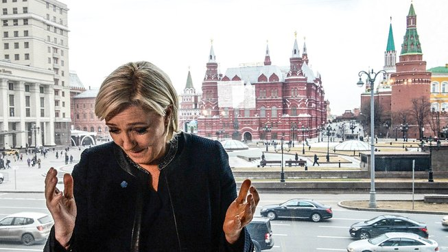 Prezidentská kandidátka Národní fronty Marine Le Penová