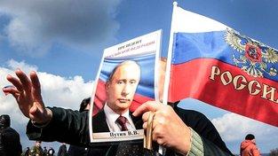 Oslavy výročí anexe Krymu v Sevastopolu. Ilustrační snímek