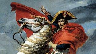 Detail slavného obrazu od Napoleonova dvorního malíře Jacques-Louise Davida