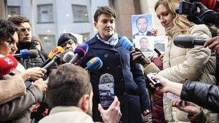 Savčenková s obležení novinářů