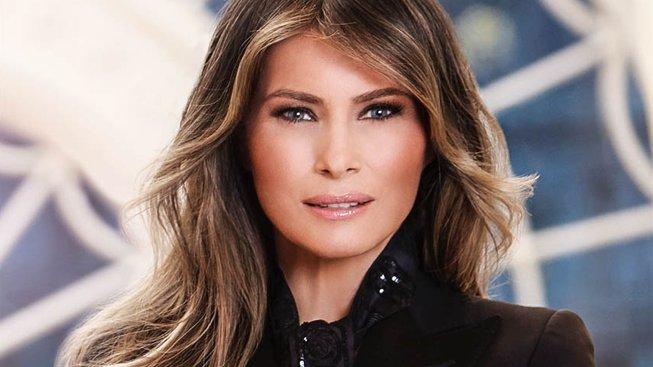 Oficiální portrét první dámy Melanie Trumpové