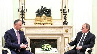 Igor Dodon a Vladimir Putin