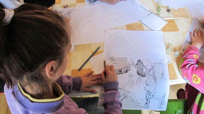 dětská dílna v Muzeu romské kultury