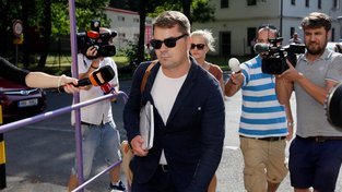 Lobbista Marek Dalík při nástupu do Ruzyňské věznice