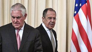 Tillerson a Lavrov v Moskvě