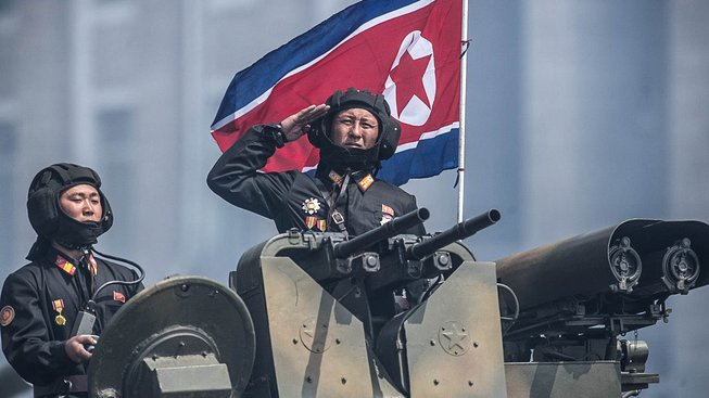 Severokorejská vojenská přehlídka