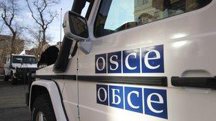 Obrněný vůz OBSE na Ukrajině využívaný k misím pozorovatelů