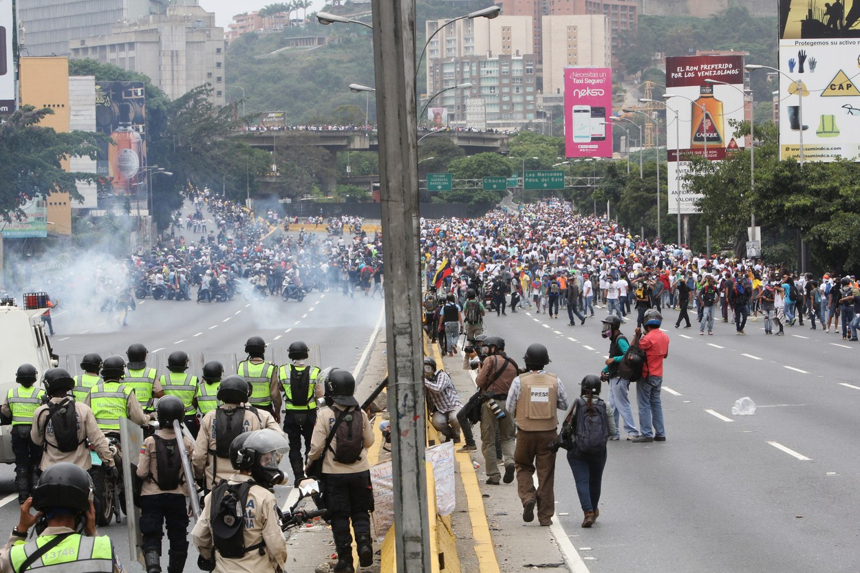 Krvavé protesty ve Venezuele