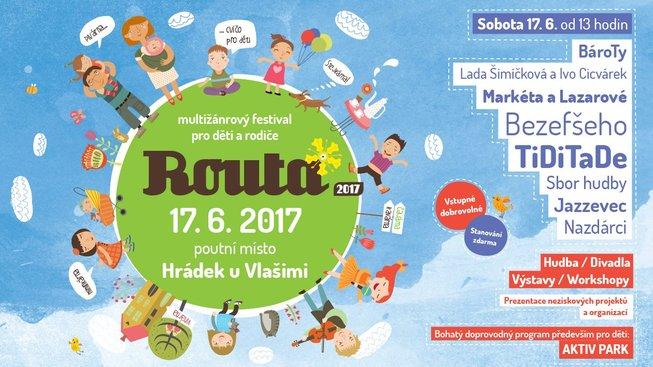 Festival ROUTA 2017 přivítá rodiče i děti hudbou a velkým 'Montessori Aktivparkem'