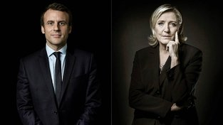 Dva úhlavní soupeři druhého kola, Macron a Le Penová