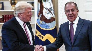 Trump a Lavrov na schůzce v Bílém domě