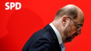 Martin Schulz po brífinku k prohraným volbám v Severním Porýní-Vestfálsku