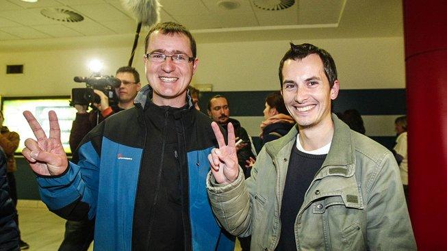 Ivan Buchta a Martin Pezlar na letišti