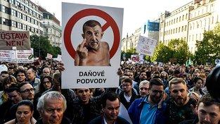 Protest proti Babišovi na Václavském náměstí