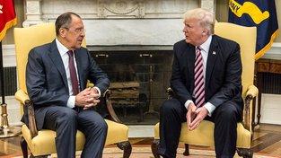 Lavrov a Trump v Bílém domě