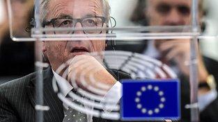 Juncker v Evropském parlamentu ve Štrasburku