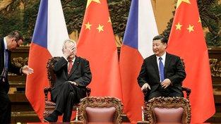 Zeman se svým čínským kolegou Si Ťin-pchingem