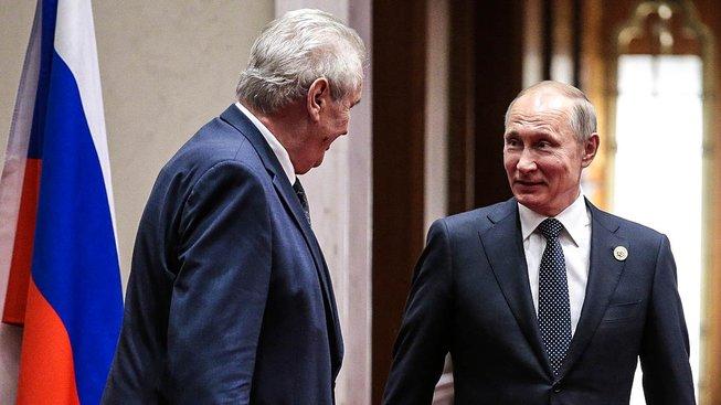 Zeman a Putin v Číně