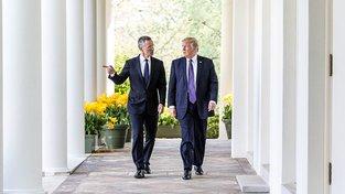 Stoltenberg a Trump v Bílém domě