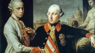 Josef II. se svým bratrem Leopoldem
