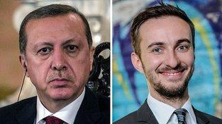 Trump a německý komik Böhmermann, který se nelichotivě vyjádřil o tureckém prezidentovi