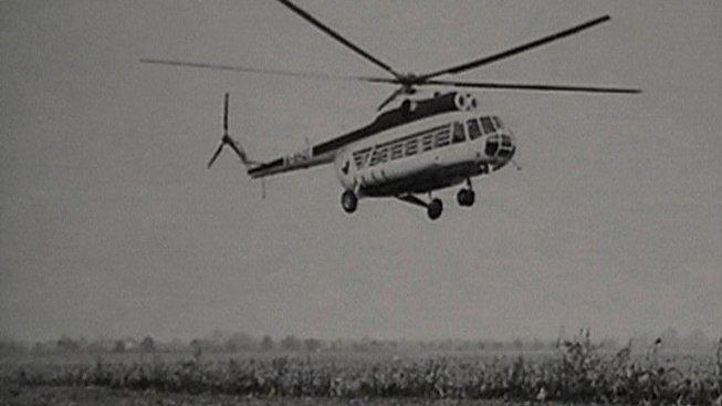 Vrtulník MI 8 při rekonstrukci havárie