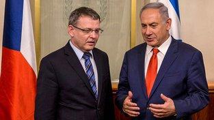 Zaorálek a Netanjahu na jejich loňské schůzce Jeruzalému