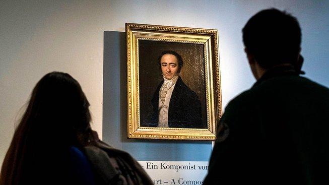 Portrét Franze Xavera je vystaven v Mozartově muzeu v Salcburku