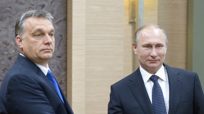 Viktor Orbán a Vladimir Putin