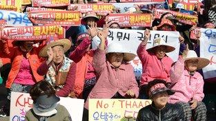 Stařeny z jihokorejské vesničky Sosongri úspěšně blokují výstavbu amerického protiraketového štítu THAAD