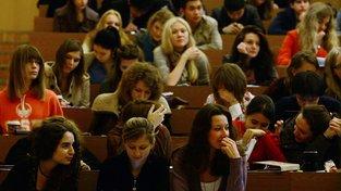 Studenti žurnalistiky na Lomonosovově univerzitě v Moskvě