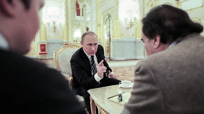 Oliver Stone a Vladimir Putin