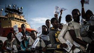 Uprchlíci v italském Salernu