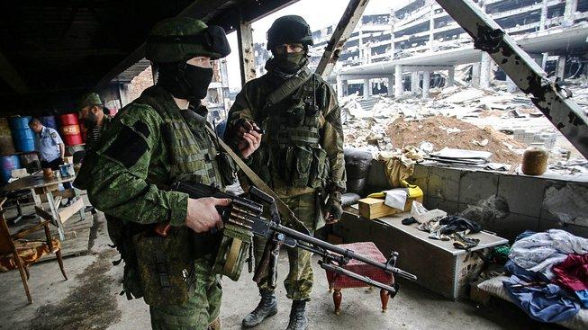Proruští separatisté v Doněcku. Ilustrační snímek