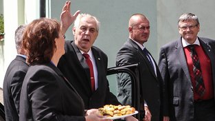 Miloš Zeman na návštěvě v Heřmanově