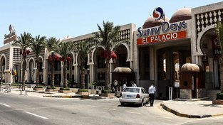 Komplex Sunny Days El Palacio v Hurghadě, kde Egypťan útočil
