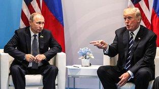 Putin a Trump během setkání v Hamburku