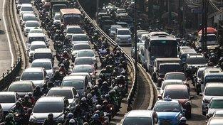 Takhle to v Jakartě vypadá s dopravou