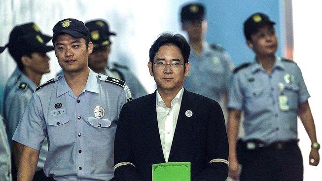 Obžalovaný I Če-jong u soudu
