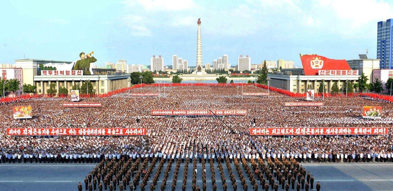 Severokorejci demonstrovali na podporu svého vůdce
