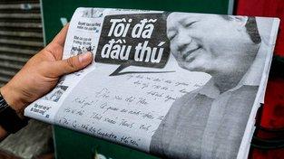 Unesený Trinh Xuan Thanh na stránkách vietnamských novin