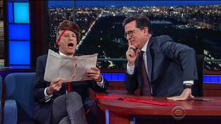 Jon Stewart v Late Show se Stephenem Colbertem