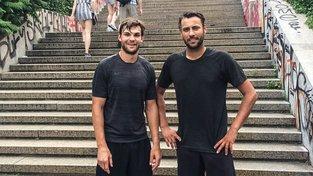 Frolik (vlevo) a Pavelec při cvičení